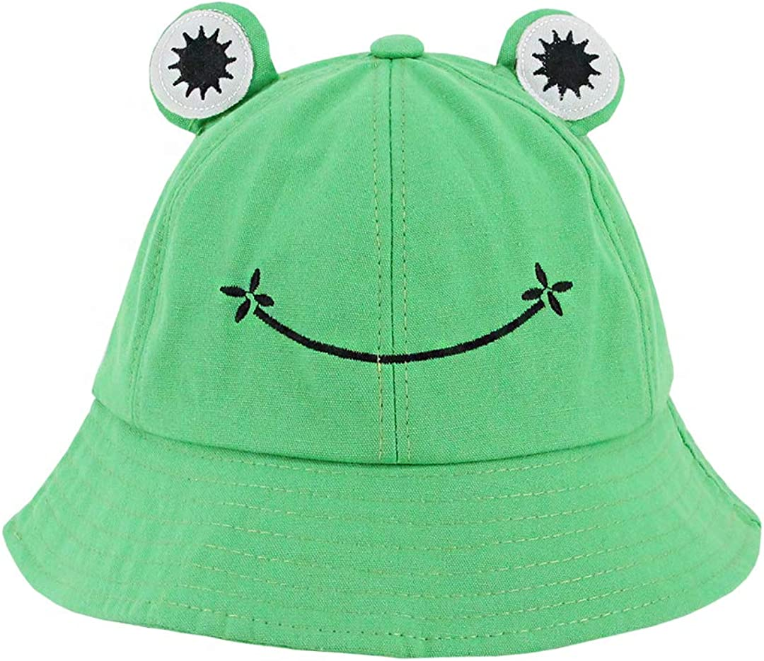 Haoohu Kids Cute Frog Bucket Hat Boston Mall Pa up Fun Industry No. 1 Dress Cotton