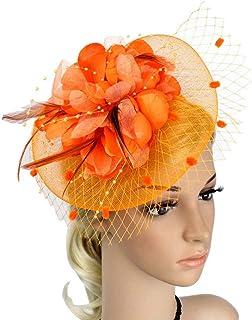 51ef11ded Amazon.com: red & orange fascinators: Clothing, Shoes & Jewelry