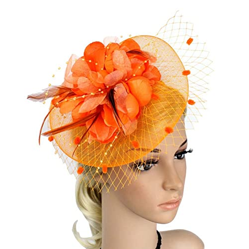 024b27b619bfe JasmineLi Wedding Fascinator Tea Party Hats Flower Feather Veils Fascinator  Hat