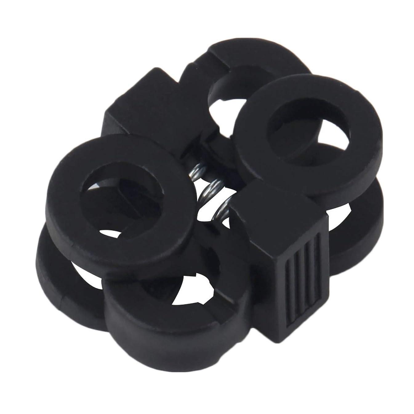 Plastic Cord Locks Non-Slip Shoe Buckle End Toggle Double Hole Spring Stopper Fastener Slider …
