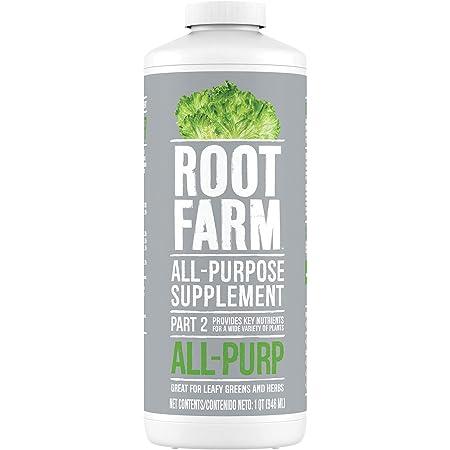 Root Farm All-Purpose Supplement - Liquid Nutrient for Hydroponic Plants, 32oz