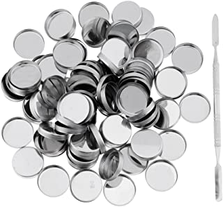 Baoblaze 100 Metalen Lege Pannen Blikje Container Met Stick Voor Make-up Cosmetica Oogschaduw Blusher Magnetisch Doe-het-p...