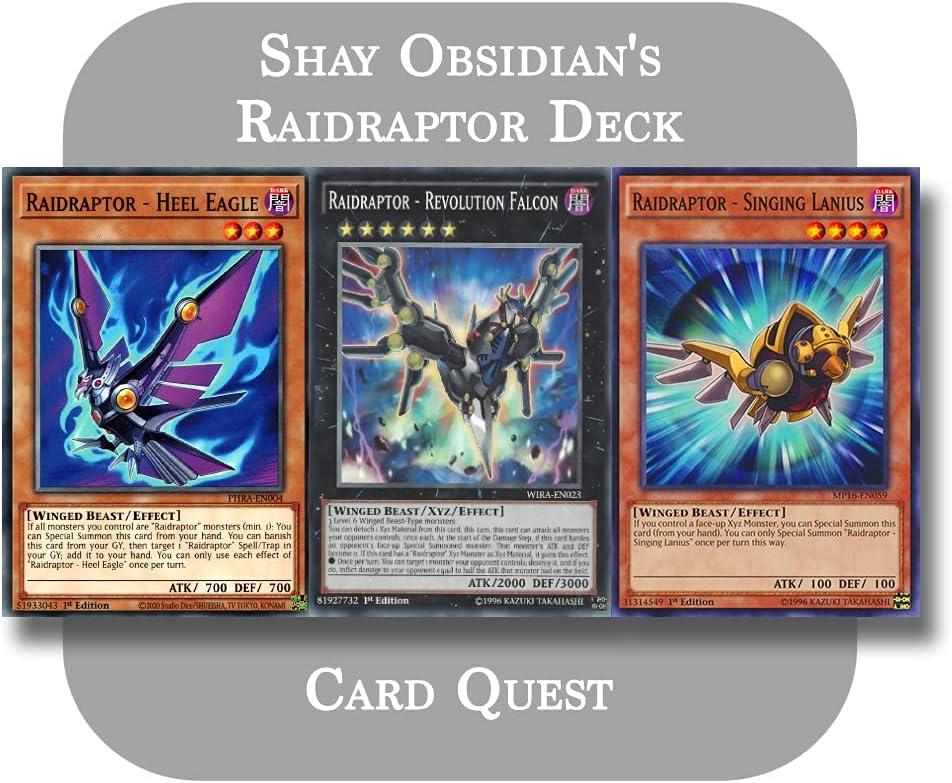 Yu-Gi-Oh ARC-V - Shay Obsidian's 在庫あり 倉庫 Raidraptor Xyz Complete Deck