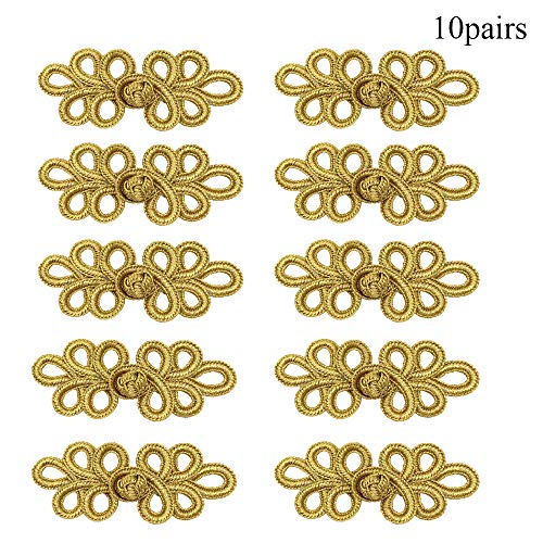 Great Features Of EvaGO 10 Pairs Chinese Knots Frog Buttons Closure Sewing Fasteners for Sweater Clo...