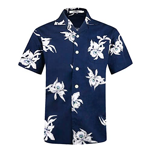 840d3dbdd368 Men s Hawaiian Shirt Short Sleeve Aloha Shirt Beach Party Flower Shirt  Holiday Print Casual Shirts L3