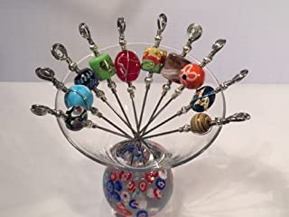 Wire Wrapped Stainless Steel Martini Picks/Appetizer Skewers Available In Sets of 4, 6, 8, And 10