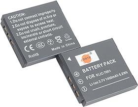 DSTE Replacement for 2X KLIC-7001 Li-ion Battery Compatible Kodak Easyshare V550 V570 V610 V705 M753 M763 M853 M863 M893 M...