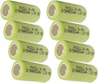 Rechargeable 2/3aa Nimh Battery 1.2v 650mah x 8pcs