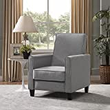 Naomi Home Landon Push Back Recliner Upholstered Club Chair Gray/Linen