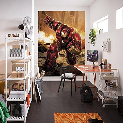 Komar Marvel Avengers Iron Man Hulkbuster Papier peint en vinyle Multicolore 184 x 0,2 x 254 cm