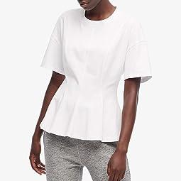 Short Sleeve Flounce Crew T-Shirt