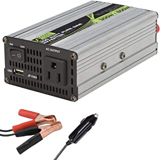Pure Sine Wave Inverter 300 Watt 12V to 110V Car AC Converter with USB Car Charger 12v Inverter Surge Protection - Work Travel Car Power Inverter, Camping, RV, Sprinter Van, Transit Van by Zamp Solar