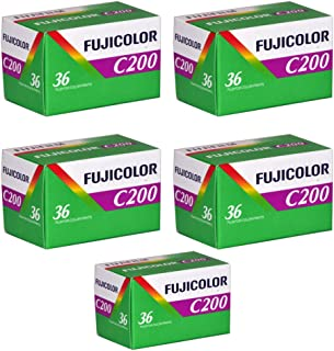 5 Rolls Fuji C200 35mm Film 135-36 FujiColor Fujifilm Color Print Expired 2014