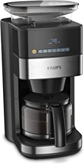 KRUPS KM8328 Ekspres przelewowy do kawy z młynkiem, Automatyczne parzenie i mielenie kawy, Planowanie godziny przygotowywa...