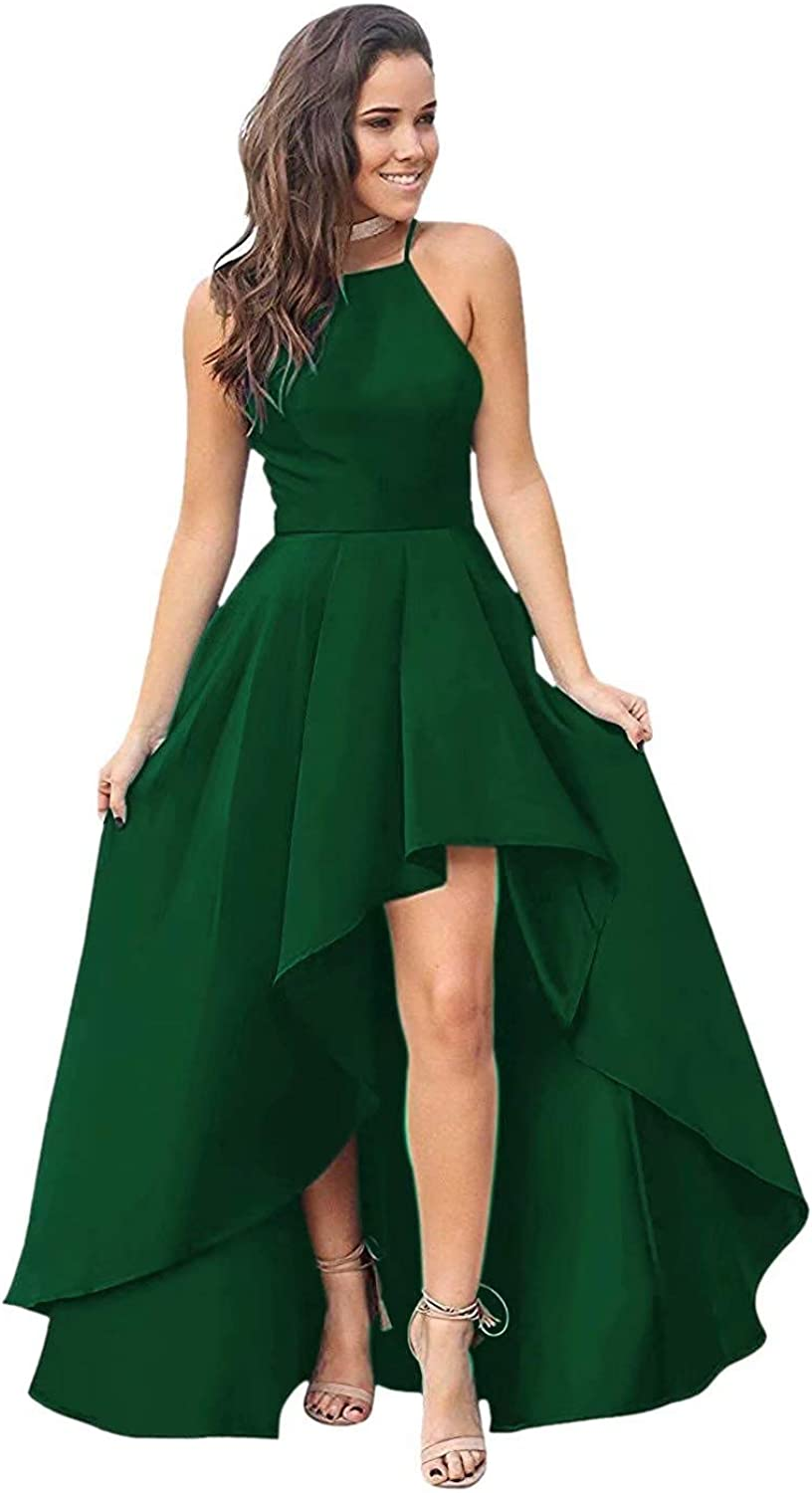 QueenBridal Women's Long Prom sale Ranking TOP20 Dress Satin High Forma Evening Low