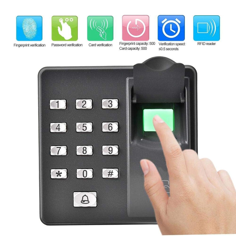 指紋認証機バイオメトリック指紋アクセス制御 キーパッド、500ユーザー、10個入RFID 125KHzカードキーフォブ、ホーム/オフィス用電動ドアロックシステム(ID)