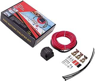 Voltage Sensitive Relay Dual Battery Kit, ISSYZONE 12V 140 Amp Dual Battery Isolator for UTV, Boat, Automobile, RV