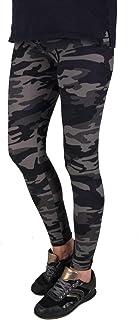 Iwea Damen Camo Leggings Lang Stretch Pants Camouflage Print