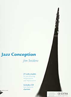Jazz Conception for Clarinet - 21 solo etudes for jazz phrasing, interpretation and improvisation - clarinet - edition with mp3 CD - [Language: English & German & French] - (ADV 14725)