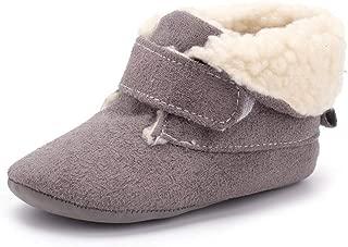 Enteer Infant Unisex-Baby Crib Shoes Soft Sole Prewalker Warm Snow Boots
