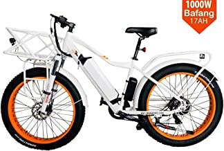 "BPM Fast F-95 1000W 17AH 48V Fat TIRE Electric Bicycle E-Bike Snow Mountain 26"" Samsung Battery"