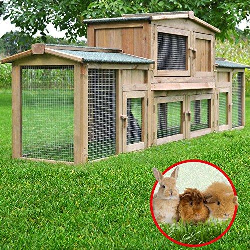 """ZooPrimus Kleintier-Stall Nr 2 XXL Kaninchen-Käfig """"DR. HASE"""" Meerschweinchen-Haus für Außenbereich (Geeignet für Kleintiere: Hasen, Kaninchen, Meerschweinchen usw.) - 5"""