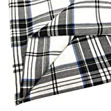 ZAIONE 100% Cotton Buffalo Plaid Tartan Fabric Width 57 inches by The Yard Black & White Plaid Yarn-Dyed Plaid Check Cloth Quilting Fabric for DIY Crafting Sewing Patchwork
