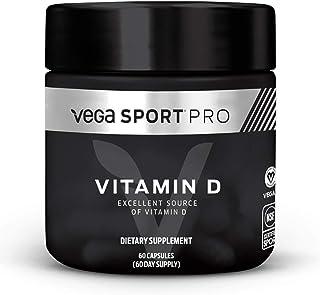 Vega Sport Pro Supplements, Vitamin D 1000 IU, 60 Capsules - NSF Certified, Certified Vegan, Gluten Free Pills (60 Day Sup...