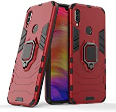 YES2GOOD Mobile Case for Redmi Note 7 Pro Ring Holder & Kickstand in-Built 360 Degree Protection Tough Hybrid Armor Bumper Back Phone Case Cover for Redmi Note 7 Pro [D5 Red]