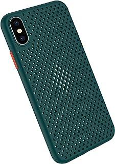 Funda Compatible con Silicone Case para iPhone X, Carcasa de Silicona Suave Antichoque Bumper Anti-Sobrecalentamiento Case...