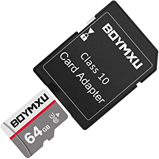 TF Memory Card 64GB,BOYMXU TF Card with Adapter,High Speed UHS-I Card Class 10 Memory Card for Phone Camera Computer