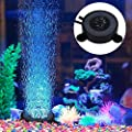 Yosoo Aquarium Air Bubble Stone with Colour Changing 6 LED Lights Fish Tank Decorative Colorful Lamps,UK Plug from Yosoo