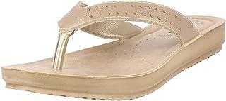 inblu Women's BM33 Gold Fashion Slippers