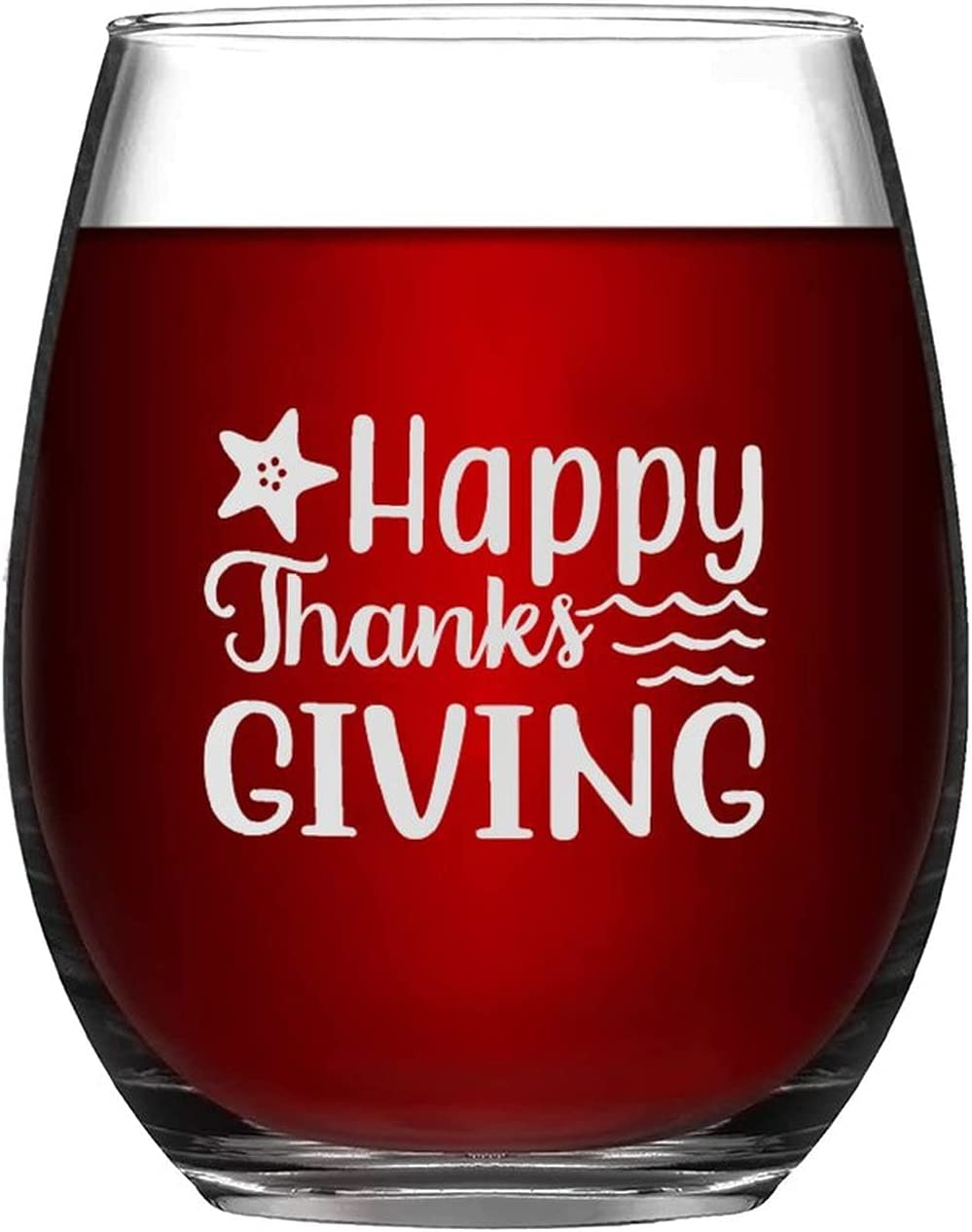 Wine Glasses Happy Thanksgiving Laser New arrival Sale SALE% OFF Than Glass Autumn Engraved