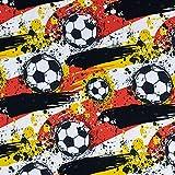Baumwolljersey Fußball Deutschland - Preis gilt für 0,5