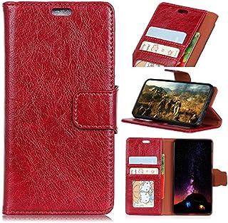 Xiaomi Mi 8 Youth Version フリップ カバー, シェル, MeetJP 滑り防止 カード スロット [立つ フィーチャー] レザー 財布 シェル ヴィンテージブック スタイル 磁気 保護 カバー ホルダー の Xiaomi Mi 8 Youth Version - Red