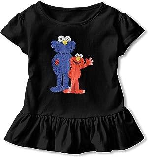 Children T-Shirts KAWS Elmo Short Sleeve Cotton Shirt Fashion Tee for Girl