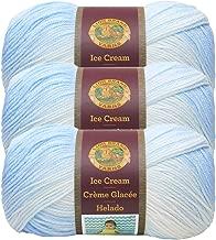 (3 Pack) Lion Brand Yarn 923-203AU Ice Cream Yarn, Blueberry