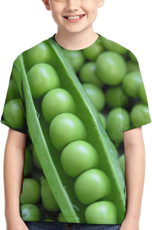 Boys Casual 3D Printing Short Sleeve T-Shirt Peas in A Pod Vegteable Kids Tops Tees