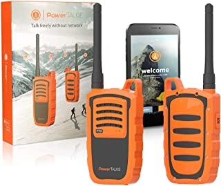 Power Talkie Off Grid Communication Device - Set of 2 Talk and Messenger Communicator, Wireless Mesh Networking, SOS Emergency Alert - Pairs to Smartphone, Powerful 6000mAh Battery, 1-3 Miles Range