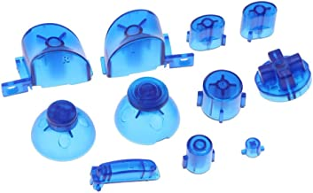 ABXYZ Buttons +Thumbstick D-pad Triggers Full Buttons Mod Set for NGC Gamecube Controller Clear Blue Color