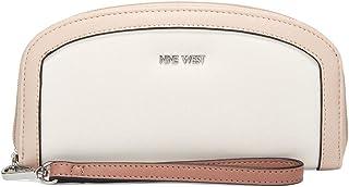 محفظة بسحاب مستدير للنساء من ناين ويست، لون اوف وايت