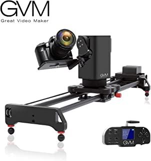 GVM Motorized Camera Slider Track Dolly for DSLR Camera Slider with 3- Axis for Multi-Targets Switching and Shooting Equipped with Wireless Controller Tracking Shooting Video Slider for Interview