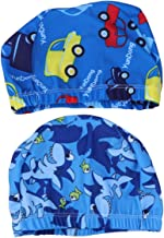 Happy Dog Face Bonnet De Bain Sup/érieur Polyester Tissu Tissu Bonnet De Bain R/ésistant /À Leau Chapeau De Natation Durable Pour Sports Nautiques