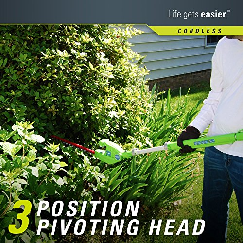 Greenworks 20-Inch 40V Cordless Pole Hedge Trimmer, 2.0 AH Battery Included...