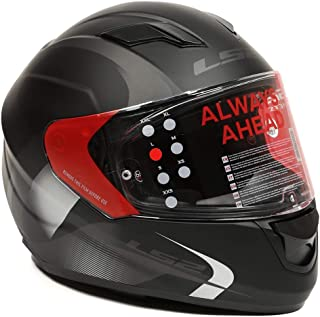 LS2 Helmets - FF320 – Stream – Velvet Matt Black Grey Dual Visor Full Face Motorcycle Helmet (Size: L – 58 cm)
