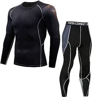 2019 New Thermal Underwear Men Underwear Sets Compression Thin Sweat Quick Dryingg
