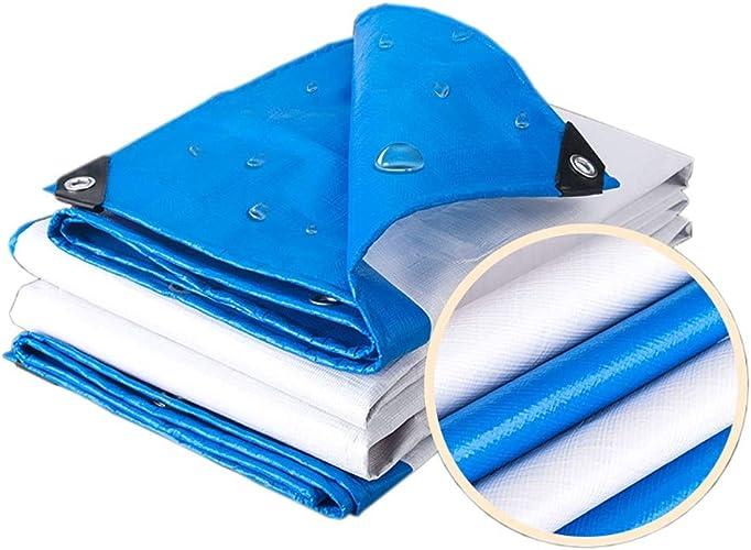 Bache Robuste Imperméable Bleue de Qualité Supérieure pour Le Pique-Nique en Camping en Plein Air, en Polyéthylène Haute Densité avec Oeillet (Taille   3M×6M)