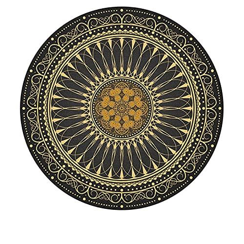 MMHJS La Alfombra Redonda Bohemia Étnica Retro Americana De Muebles para El Hogar Es Suave Agradable para La Piel Y Sin Pelo 120x120cm