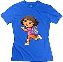 StaBe Women Dora Explorer T-Shirt Slim Fit Hot Topic S RoyalBlue